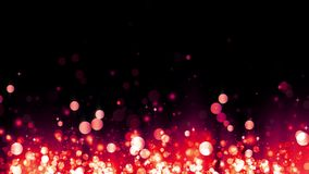 Ακτινοβολώντας κόκκινα μόρια αύξησης Υπόβαθρο με τα λαμπρά μόρια Όμορφο ελαφρύ υπόβαθρο bokeh Κόκκινο κομφετί r απόθεμα βίντεο