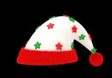 Ακτινοβολήστε καπέλο Άγιου Βασίλη αστεριών με το ψαλίδισμα της πορείας Στοκ Φωτογραφία