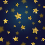 Ακτινοβολήστε χρυσό υπόβαθρο αστεριών Στοκ Εικόνες