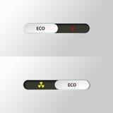 Ακτινοβολία ολισθαινόντων ρυθμιστών κουμπιών biohazard Στοκ εικόνα με δικαίωμα ελεύθερης χρήσης