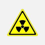 Ακτινοβολία σημαδιών κινδύνου, απειλή συμβόλων διανυσματική απεικόνιση