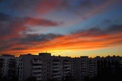 Ακτινοβολημένος ήλιος βραδιού μεταλλαγής σύννεφα στοκ φωτογραφία με δικαίωμα ελεύθερης χρήσης