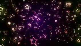 Ακτινοβολώντας αστέρια διακοπών ελεύθερη απεικόνιση δικαιώματος