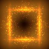 Ακτινοβολώντας αστέρια στο υπόβαθρο bokeh Στοκ Εικόνες