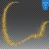 Ακτινοβολώντας χρυσή ουρά σκόνης Η αστραπή ακτινοβολεί απεικόνιση αποθεμάτων