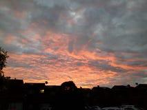 Ακτινοβόλο ηλιοβασίλεμα Στοκ Εικόνα