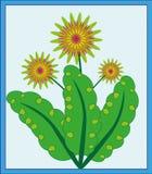 Ακτινοβόλο διάνυσμα λουλουδιών Στοκ Εικόνα