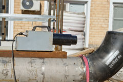 Ακτινογραφία των ενωμένων στενά ενώσεων των σωληνώσεων Στοκ Εικόνες