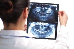 Ακτινολόγος που εξετάζει μια ακτίνα X Στοκ φωτογραφίες με δικαίωμα ελεύθερης χρήσης