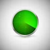 Ακτινωτή οθόνη του πράσινου χρώματος με τους στόχους Στοκ Εικόνες
