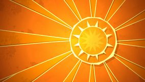 Ακτινωτός βρόχος ηλιοφάνειας απεικόνιση αποθεμάτων