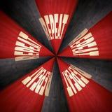 Ακτινωτός επαναλάβετε το κυκλικό αφηρημένο σχέδιο Στοκ Φωτογραφία