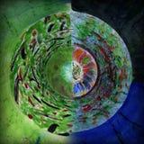 Ακτινωτό αφηρημένο σχέδιο ροδών χρώματος Στοκ Εικόνα