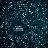 Ακτινωτό γραφικό σχέδιο δικτυωτού πλέγματος αφηρημένο διάνυσμα ανασκόπ& Στρογγυλά μόρια σημείου Σήραγγα, χοάνη, μαύρη τρύπα Στοκ Εικόνα