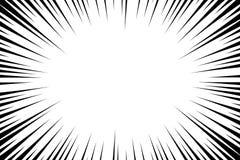 Ακτινωτό υπόβαθρο γραμμών κόμικς Πλαίσιο ταχύτητας Manga Διανυσματική απεικόνιση έκρηξης Αφηρημένο σκηνικό ακτίνων έκρηξης ή ήλιω διανυσματική απεικόνιση