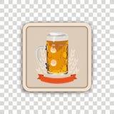 Ακτοφύλακας μπύρας διαφανής Απεικόνιση αποθεμάτων