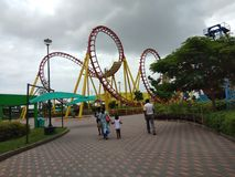 Ακτοφύλακες Rolloar, θεματικό πάρκο wanderla Hyderabad στοκ εικόνες