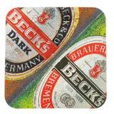 Ακτοφύλακας ποτών Beermat που απομονώνεται Στοκ Εικόνα