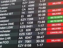 Ακυρωμένες και καθυστερημένες πτήσεις στοκ φωτογραφία με δικαίωμα ελεύθερης χρήσης