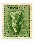 Ακυρωμένο η Αυστραλία γραμματόσημο 1937 Koala Στοκ Φωτογραφία