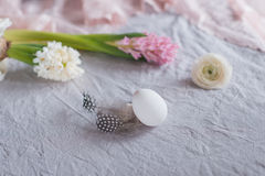 Ακόμα αυγό και λουλούδια ζωής Στοκ εικόνες με δικαίωμα ελεύθερης χρήσης