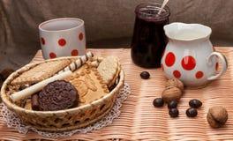 Ακόμα ζωή με τα μπισκότα Στοκ Εικόνες