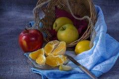 Ακόμα ζωή με το κόκκινο μήλο Στοκ Εικόνα