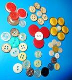 Ακόμα ζωή με των διαφορετικών χρωμάτων τα κουμπιά Στοκ φωτογραφία με δικαίωμα ελεύθερης χρήσης