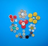 Ακόμα ζωή με των διαφορετικών χρωμάτων τα κουμπιά Στοκ Εικόνες