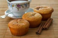 Ακόμα ζωή με muffins και την κανέλα Στοκ φωτογραφία με δικαίωμα ελεύθερης χρήσης