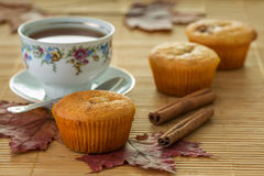Ακόμα ζωή με muffins και την κανέλα Στοκ Φωτογραφία