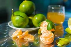 Ακόμα ζωή με tangerines Στοκ εικόνα με δικαίωμα ελεύθερης χρήσης