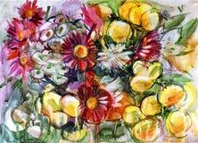 Ακόμα ζωή μια ανθοδέσμη των λουλουδιών Στοκ Εικόνα