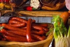 Ακόμα ζωή των προϊόντων κρέατος Στοκ φωτογραφία με δικαίωμα ελεύθερης χρήσης