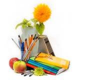 Ακόμα σχετικά με το θέμα του σχολείου. Ημέρα δασκάλων Στοκ Εικόνες