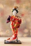 Ακόμα χαριτωμένη ιαπωνική κούκλα γκείσων ζωής Στοκ Εικόνες