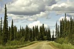 Αλάσκα, δρόμος από Fairbanks στον αρκτικό κύκλο Στοκ φωτογραφίες με δικαίωμα ελεύθερης χρήσης
