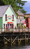 Αλάσκα - σπίτι 2 της διάσημης Dolly οδών κολπίσκου Στοκ Φωτογραφία