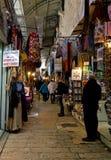 Αλέα αγοράς πόλεων της Ιερουσαλήμ Στοκ Εικόνα