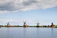 Αλέθει lanscape σε Zaanse Schans Στοκ εικόνες με δικαίωμα ελεύθερης χρήσης