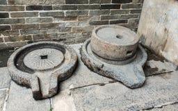 Αλέθοντας πέτρες Tai Fu Tai στο προγονικό σπίτι, Χονγκ Κονγκ Κίνα στοκ φωτογραφία με δικαίωμα ελεύθερης χρήσης