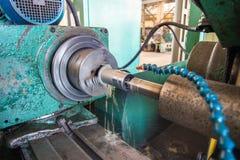 Αλέθοντας στις εσωτερικές αλέθοντας εργαλειομηχανές των προϊόντων μετάλλων, με την υδρόψυξη στοκ φωτογραφία με δικαίωμα ελεύθερης χρήσης