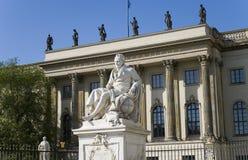 Αλέξανδρος Βερολίνο humboldt von Στοκ φωτογραφία με δικαίωμα ελεύθερης χρήσης