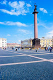 Αλέξανδρος Column στο τετράγωνο παλατιών Στοκ φωτογραφίες με δικαίωμα ελεύθερης χρήσης