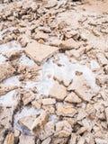 Αλατισμένα επίπεδα μακρυά στην περιοχή, Danakil Στοκ Εικόνες