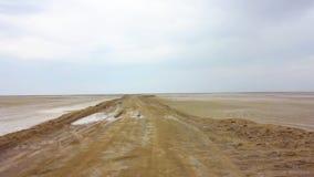 Αλατισμένη έρημος Maranjab Kashan απόθεμα βίντεο