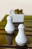 αλατισμένο λευκό μπουκαλιών Στοκ φωτογραφία με δικαίωμα ελεύθερης χρήσης