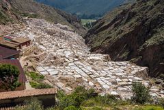Αλατισμένο ορυχείο Maras στοκ φωτογραφίες με δικαίωμα ελεύθερης χρήσης