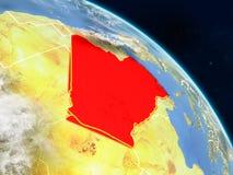 Αλγερία από το διάστημα διανυσματική απεικόνιση