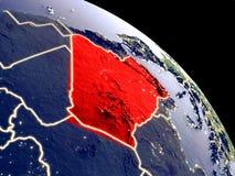Αλγερία από το διάστημα ελεύθερη απεικόνιση δικαιώματος